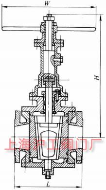 轨道旋塞阀主要外形及结构尺寸示意图